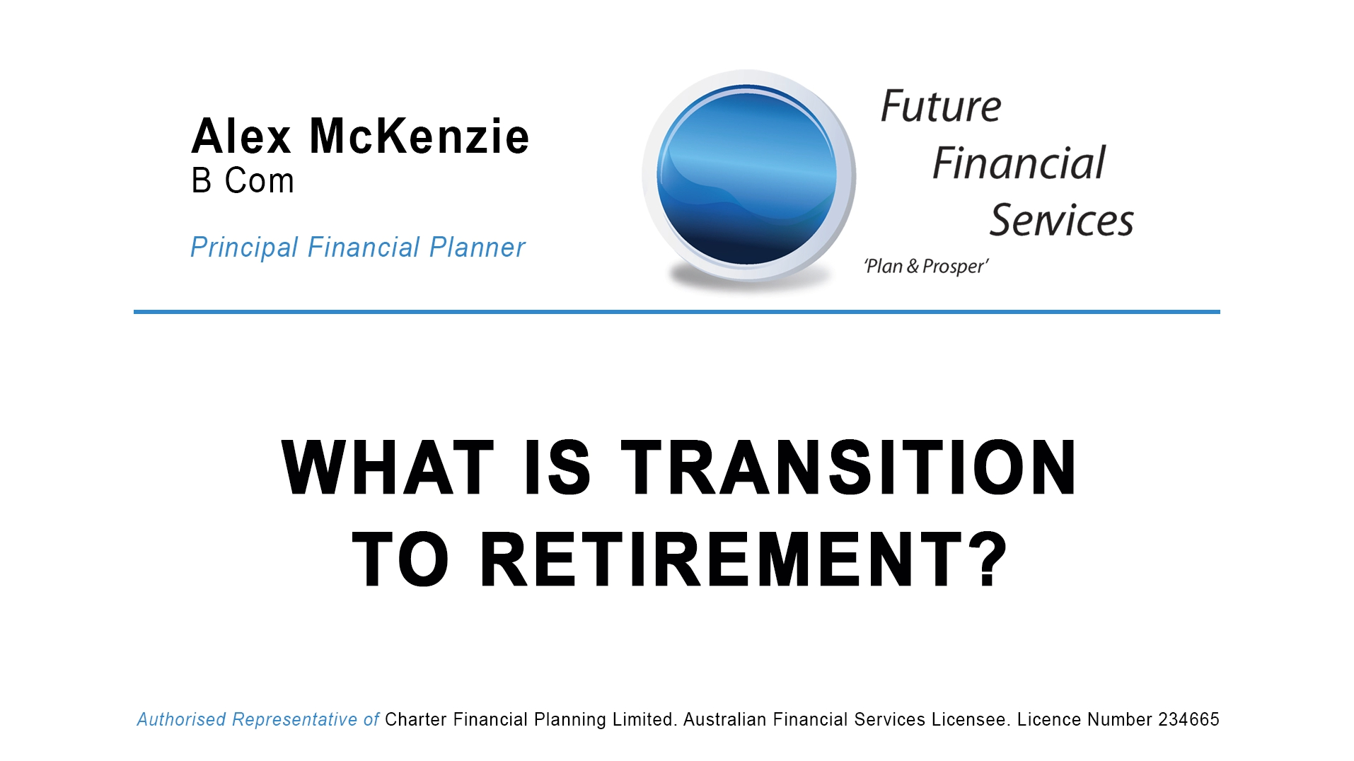 What is transition to retirement